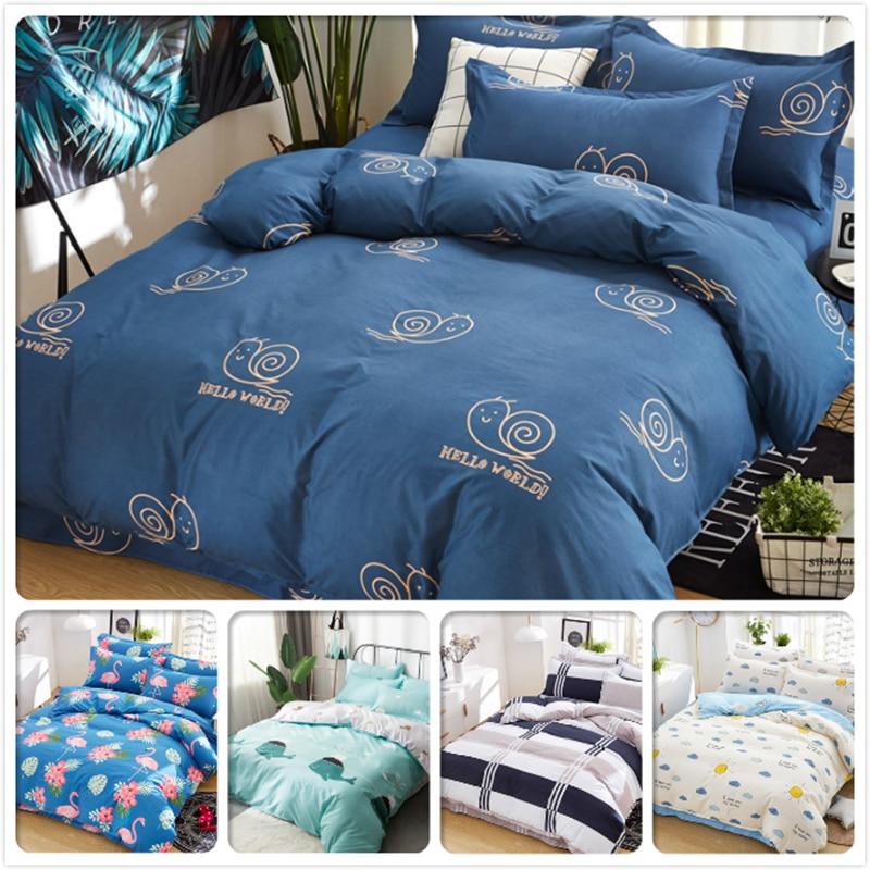 3/4 pcs Bedding Set Soft Cotton Duvet Cover Bedclothes Sheet Quilt Pillow Case Bed Linen Single Queen King Size 1.5/1.8/2/2.2 m