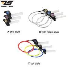 ZS Racing ручка для мотоцикла с 1/4 быстрой поворотной дроссельной заслонкой, кроссовые мотоциклетные ручки 7/8 дюйма для KTM CRF