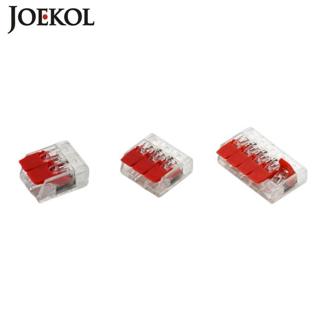 30 unids/lote WAGO 221-412, 413, 415 Mini rápido conectores de Cable Universal cableado de Cable conector push-en bloque de terminales
