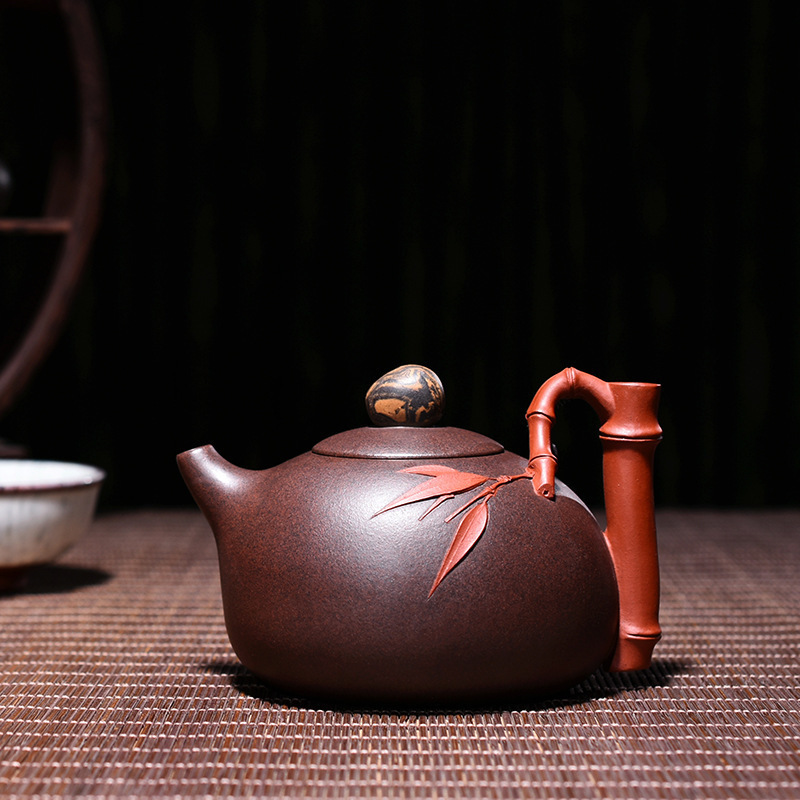 Quality Goods Famous Manual Raw Ore Two Colors Of Purple Clay Bamboo Joint Xi Shi Kettle Kungfu Online Teapot Tea Set SuitQuality Goods Famous Manual Raw Ore Two Colors Of Purple Clay Bamboo Joint Xi Shi Kettle Kungfu Online Teapot Tea Set Suit