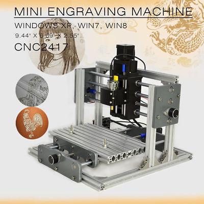 CNC 2417 routeur Mini bricolage moulin routeur kit USB bureau Machine de gravure pour le fraisage de carte PCB