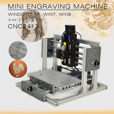 CNC 2417 Router Mini DIY Mill Router kit USB desktop Engraving Machine for PCB milling aluminum lathe body cnc 6040 router 1605 ball screw cnc frame kit diy cnc engraving machine