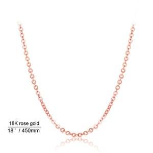 Image 4 - אמיתי 18K לבן צהוב זהב שרשרת שרשרת תליון 18 סנטימטרים au750 תכשיטי שרשרת נשים בסדר מתנה
