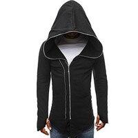 Moletom Feminino Inverno Winter Hoodie Mens Zipper Long Sleeves Casual Assassins Creed Streetwear Hoodie Pullover Sweatshirts