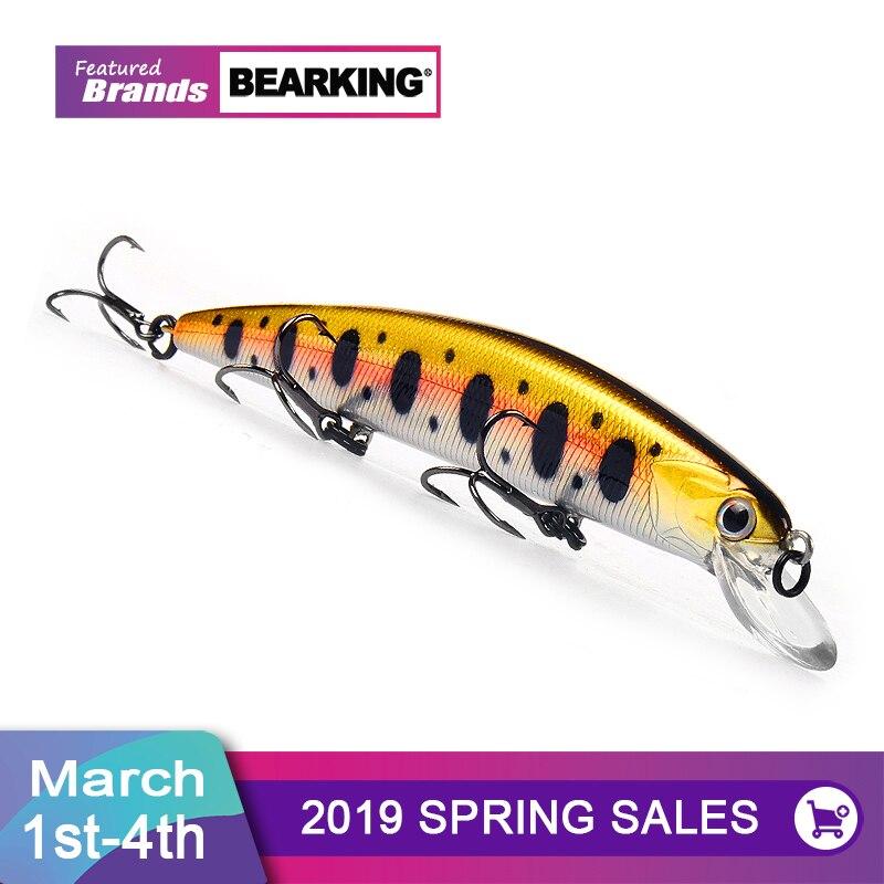 Bearking 11 cm 17g de buceo 1,5 m peso super sistema de tiempo de SP minnow nuevo modelo Señuelos de Pesca duro cebo calidad wobblers