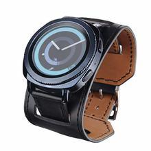 fa08e1f2eea9 Para Samsung S2 de deporte S3 brazalete de cuero Correa 20mm 22mm BANDA DE  REPUESTO glaxery reloj 46  42mm
