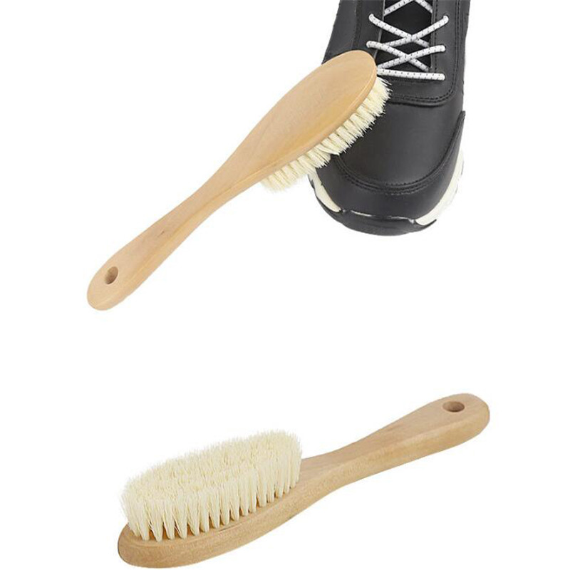 Solid Wood Handle Clean Brush Multi-function Clothes Brush Cleaning Tool Shoes Brush For Home Laundry Cleaning
