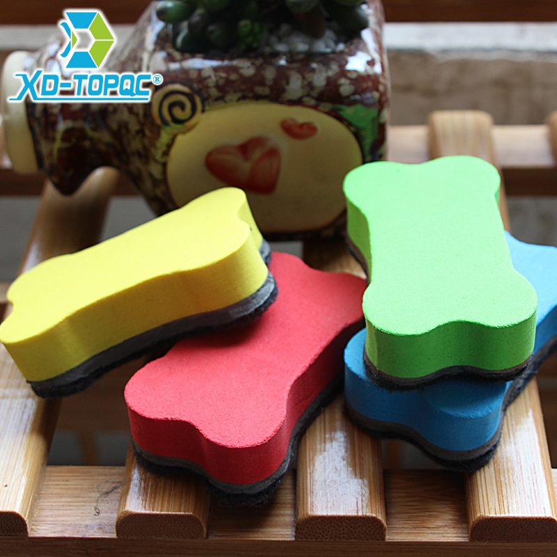 4pcs/lot New Lovely Bones Magnetic Whiteboard Eraser Magnetic Eraser Cleaner Blackboard Accessories Free Shipping