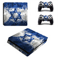 Israel National Flag PS4 Slim Skin Sticker Decal For Sony PS4 PlayStation 4 Slim Console and 2 Controllers Stickers