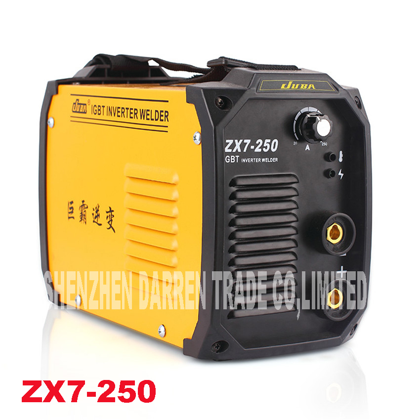 New 220V 6.5KW Portable Welder IGBT Inverter Portable Welding machine Arc Welder ZX7-250 With Electrode Holder And Earth Clamp 200amp 220v welding welder inverter dc electrode arc smaw stick rod igbt zx7 200t