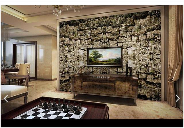 3D Foto Tapete Custom 3d Wandbild Tapete Chinesische HD Baum Rinde TV  Hintergrund Wand Papier 3d