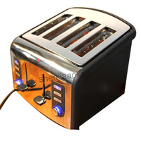Stainless steel 4slices Toaster automatic toaster CFDQ004 electric oven toaster breakfast machine Baking Heating bread machine