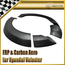 Автомобиль-стиль FRP Стекловолокна Lordpower Широкий Тела Заднее Крыло Для Hyundai Veloster (Нужно широкий Передний Бампер)