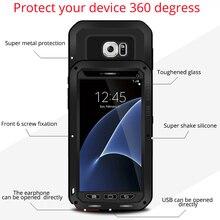 Для Samsung Galaxy S7 чехол из металла противоударный алюминий + Gorilla Glass 360 Полный Обложка для Samusng S7 Роскошные тяжелых Броня