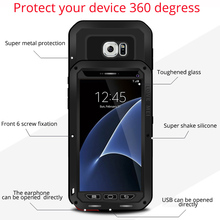 For samsung galaxy A3 2016 case Metal Cover for samsung galaxy A5 2015 S7 6 5 4 3 Edge Plus glass water/dirt/shockproof case