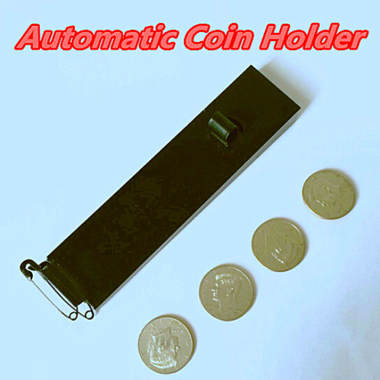 Automática Holder Coin (medio dólar versión), Trucos de Magia, Apareciendo, Close Up, Accesorios, Truco, accesorios
