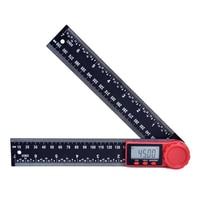 200mm 디지털 각도기 각도 경사계 스케일 전자 각도계 정확한 파인더 레벨 측정 검출기 눈금자|각도기|도구 -