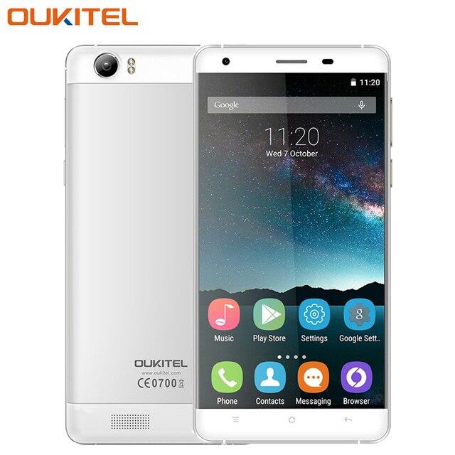 Оригинал K6000 OUKITEL Мобильный Телефон 5.5 дюймов 2 Г RAM 16 Г ROM MTK6735P Quad Core Андроид 5.1 13.0MP Camare 6000 мАч Smartphoone