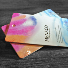 Customized Color Printing With Gold Stamping Name Letters Clothing Paper Tag Hang Tags