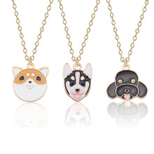 Cute Dog Necklace For Women Animal Puppy Doggy Pendant Kawaii Shiba Inu Husky Poodle Necklaces&Pendants Jewelry