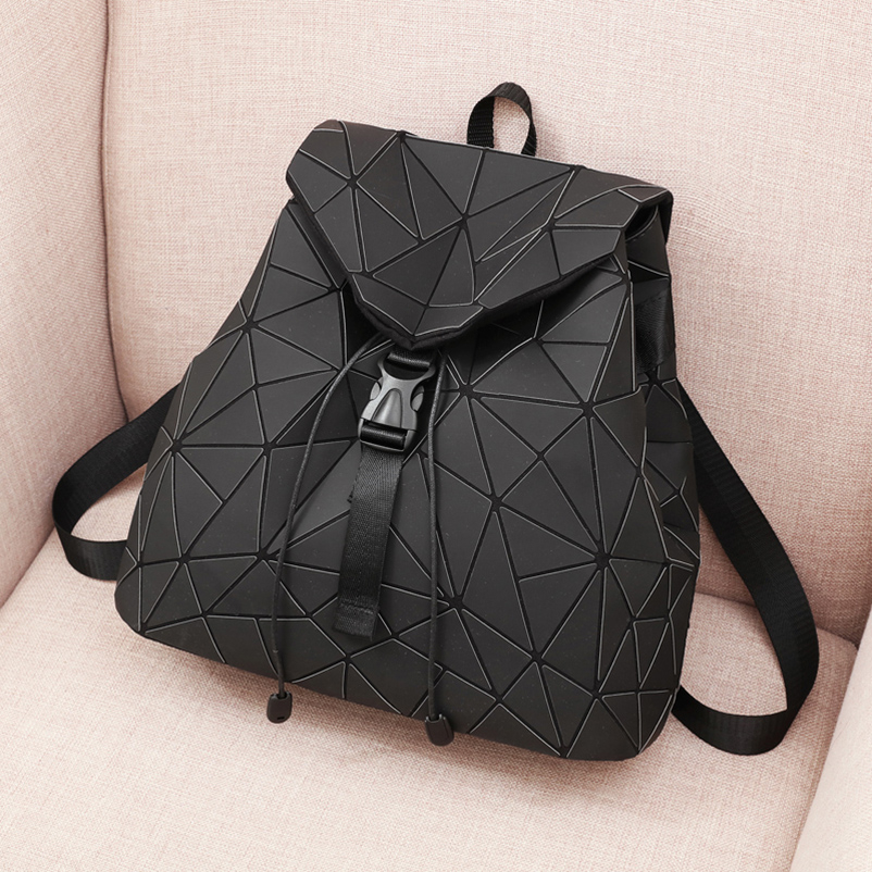 Nevenka Diamond Lattice Backpack Women Backpack Leather Creative Geometric Backpacks Drawstring Backpacks for Teenager Girl 201805