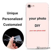 Aangepaste Diy Afbeelding Foto Tpu Siliconen Case Voor Apple Iphone 11 Pro X Xr Xs Max 7 8 Plus 6 6S Plus Custom Hosing Cover Coque(China)