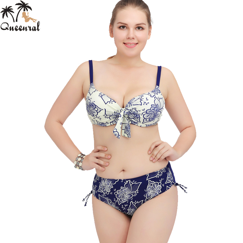 Swimsuit Solid Large size bikini set sexy departure beach ...