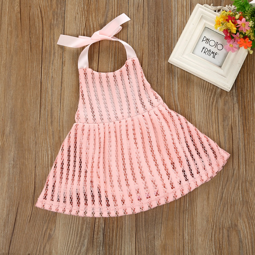 319c70c4924 Puseky Newborn Toddler Infant Baby Girls Clothing Halter Romper Dress  Hollow Out Backless Mini Sleeveless Sundress Beach Summer-in Dresses from  Mother ...
