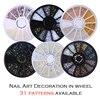 1 Box Colorful Shinning Nail Rhinestones Sharp Flat Bottom Studs 3D Nail Decor Manicure Nail Art Decoration In Wheel