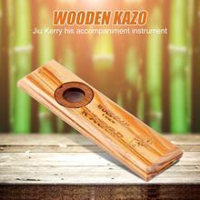 Деревянная гармоника Kazoo для взрослых детей Обучающие, музыкальные аккомпанементы для бас-укулеле гитара джаз барабанный набор акустические инструменты