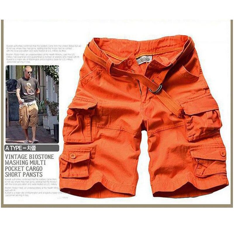 Новинка, Летний стиль, мужские повседневные армейские камуфляжные шорты Карго, хлопковые короткие штаны, военные камуфляжные модные шорты, мужские пляжные шорты