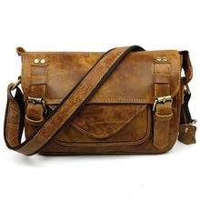 Leisure Retro Men Messenger Bags Genuine Leather Designer Handbags High Quality Men Bag Vintage