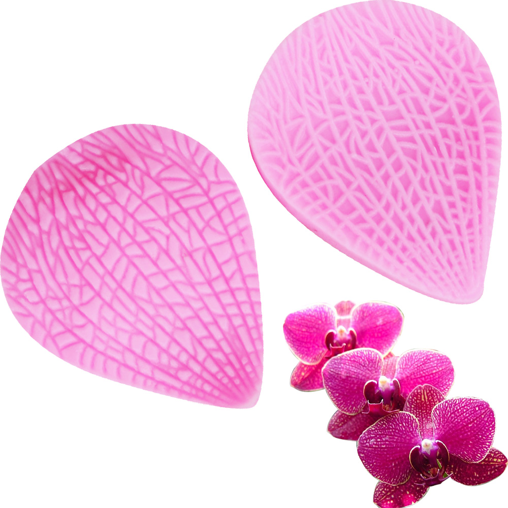C211 24pcs set Leaf Flower Petals Silicone Mold Cake Decorating Tools Fondant Sugarcraft Gumpaste Mould Chocolate Baking Tools in Cake Molds from Home Garden