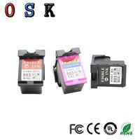 New cartridge for Refillable Edibel ink cartridge for Coffee printer Food printer for HP 803BK 803 COLOR|Ink Cartridges| |  -