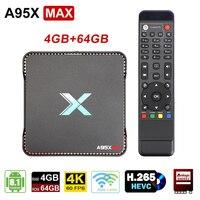 Nagrywanie wideo z systemem Android 8.1 TV  pudełko 4GB pamięci RAM 64GB procesor Amlogic S905X2 czterordzeniowy podwójny Wifi BT4.2 1000M H.265 4K 60pfs A95X MAX X2 w Dekodery STB od Elektronika użytkowa na