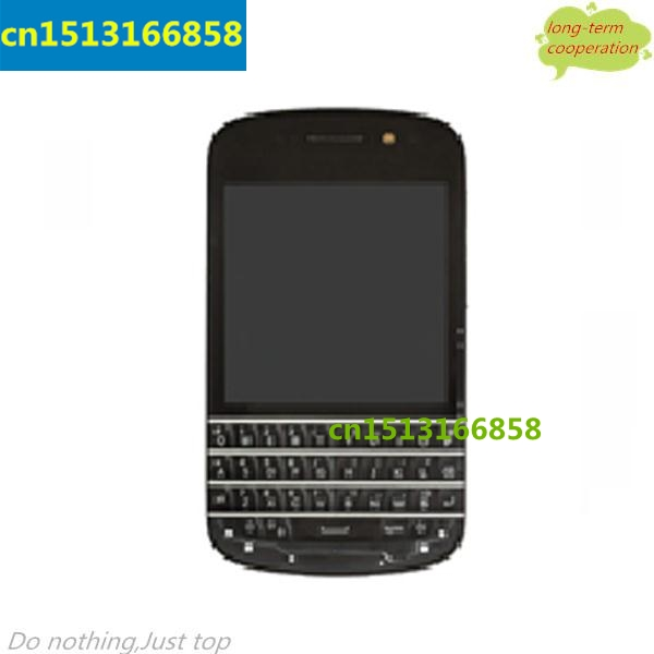 OEM LCD Screen and Digitizer Assembly with Middle Frame & Keypad for BlackBerry Q10 - Black
