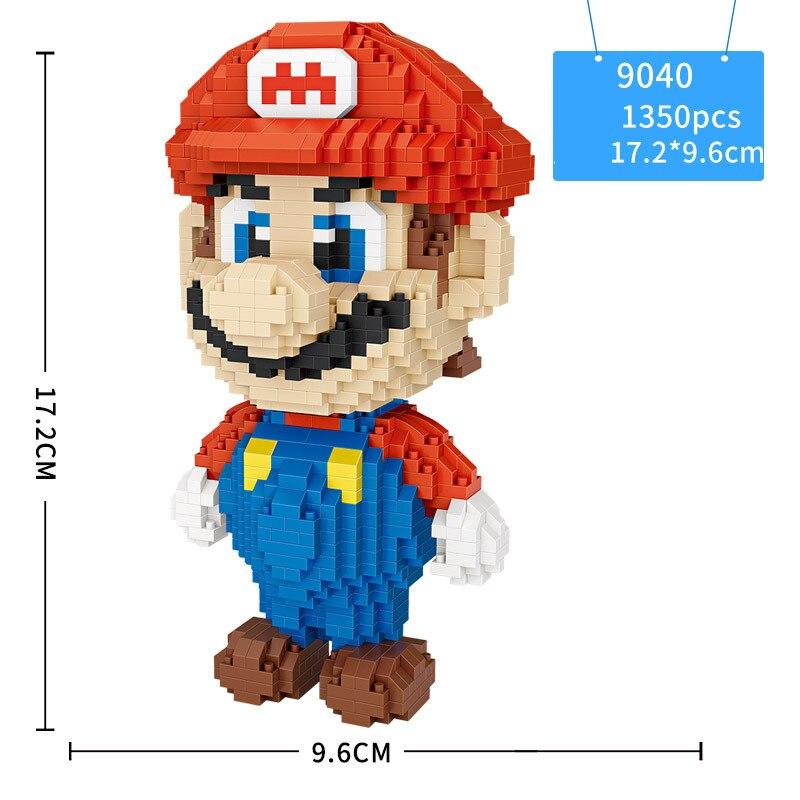 Loz créateurs Mini diamant Micro bloc de construction Nintendos jeu Super Mario Bros Nanoblock briques modèle jouets pour enfants cadeaux