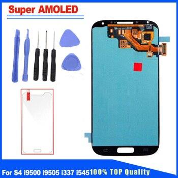 806bba0b175 Super AMOLED para Samsung Galaxy S4 i9505 i9500 i337 i545 pantalla LCD  reemplazo de la pantalla táctil de la Asamblea brillo ajustable