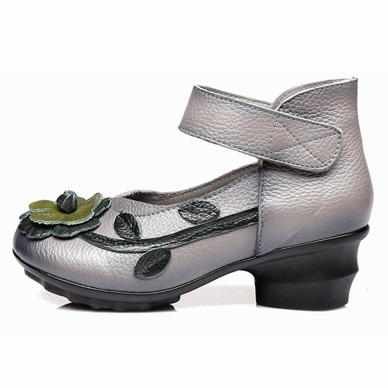 Timetang Véritable Printemps Noir Pompes La Talons Haute Vintage Doux Chaussures En Cuir gris À Femmes 2018 Main Automne Épais rouge qqrwAFp