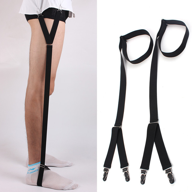 2018 Newest Men Shirt Stays Garter Belt Suspenders Holder Elastic Y Shape  Adjustable Uniform Gourd Buckle