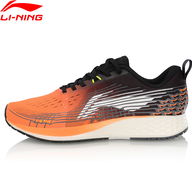 Li Ning Men BASIC RACING SHOES Running Shoes Light Weight Marathon LiNing Breathable Sport Shoes Sneakers