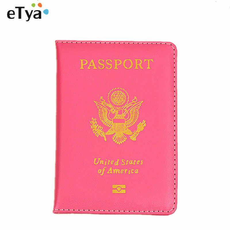 2660e171b Travel USA Passport Cover For Women Men Fashion Passport Holder Wallet  Purse Cute Documents ID Card