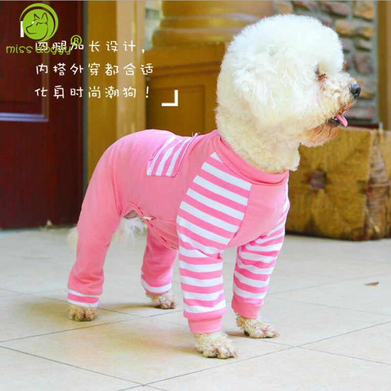 Soft Cotton Pets Dog Costume Pajamas Winter Warmer Pets Doggy Puppy Cat Clothes Pet Jumpsuits Romper Pyjamas Clothing XS-XL 20A