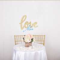 Love Sign for Wedding Decor or Photo Prop Large Word Cutout Letters, Love Sign for Photography, Engagement or Wedding