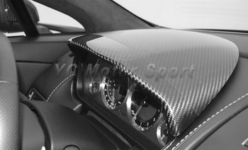 Dry Carbon Fiber Interior Trim Fit For 2006-2015 Aston Martin V8 Vantage&S V12 Vantage&S Instrument Cluster Cover Replacement