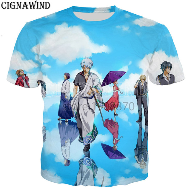 New Gintama.: Shirogane no Tamashii-hen – Kouhan-sen t shirt 3D print fashion short sleeve tshirt streetwear casual summer tops