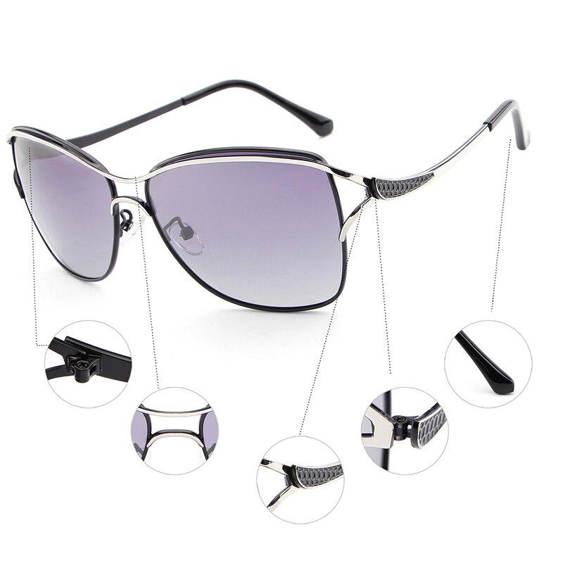 Image 5 - HDCRAFTER Polarized Cat Eye Sunglasses Women Fashion Style Brand Designer Driving Sun Glasses for Women Oculos De Sol Eyewear-in Women's Sunglasses from Apparel Accessories
