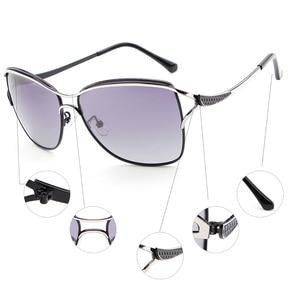 Image 5 - HDCRAFTER Polarized Cat Eye Sunglasses Women Fashion Style Brand Designer Driving Sun Glasses for Women Oculos De Sol Eyewear