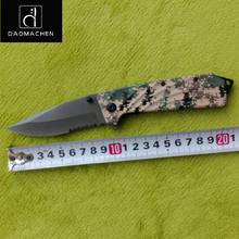 DAOMACHEN Folding Knife Half tooth Tactical Knife Camping Survival Tools Hunting knives Outdoor knife Super Sharp 440 Steel
