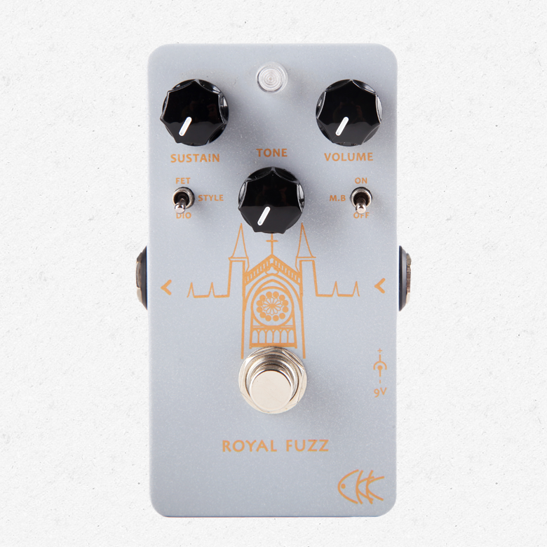 CKK Electronics Royal Fuzz a Modern Fuzz Distortion Guitar Effect Pedal aroma agf 3 guitar fuzz guitar effects pedal germanium fuzz distortion effect pedal powerful dynamic output true bypass